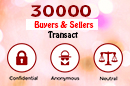 30000 Buyers & Sellers Transact Confidentially, Anonymously & Neutraly