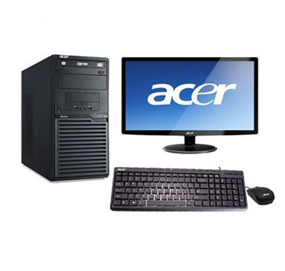 acer veriton desktop pc/ intel core-i3 7th-gen/ 4 gb ram/ 1 tb hdd/ dos/ 18.5 inch screen monitor/ 3 years warranty