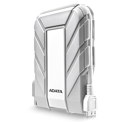 ADATA Waterproof, Dustproof, Shock-Resistant USB 3.0 External Hard Drive (AHD710A-1TU3-CWH) White