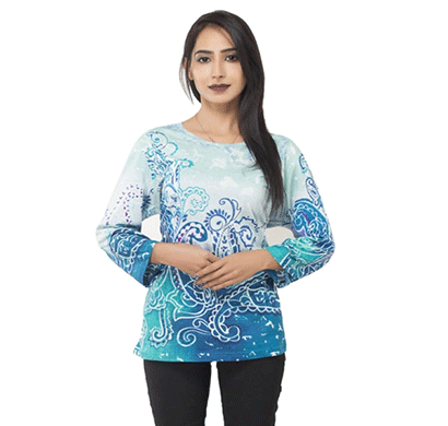 Advik Printed Tops For Women's (White)