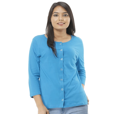 advik plain top for women (blue)