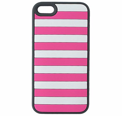Agent18- P5STR/CG, IPHONE 5/5S STRIPEVEST, PINK/GRAY
