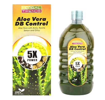 Herbal Trends Aloe Vera DB Control 5x Power of 5 Rejuvenating Herbs - Healthy blood Sugar Care Natural
