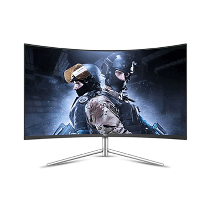 aoc (c27v1q/ws) 27 inch curved frameless led monitors,(white ,silver)