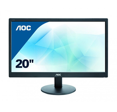 aoc (e2070swn) 19.5 led widescreen monitor/ black