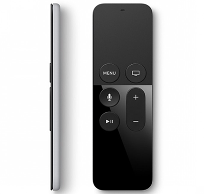 apple - mg2q2zm/a tv remote, black, 1 year warranty