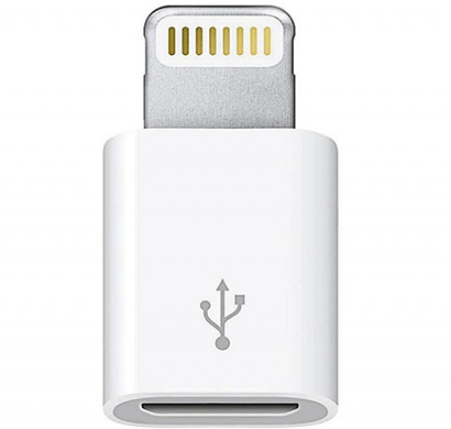 Apple - 885909627479 Lightning To Micro-USB Adapter, White