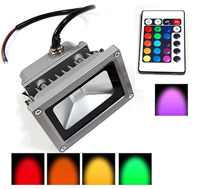 Arpit 10 Watt Flood Light High Quality Imported RGB Color (Red, Blue, Green, White)