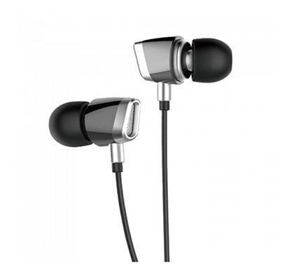 astrum eb290 earphone with wire mic (black and silver)