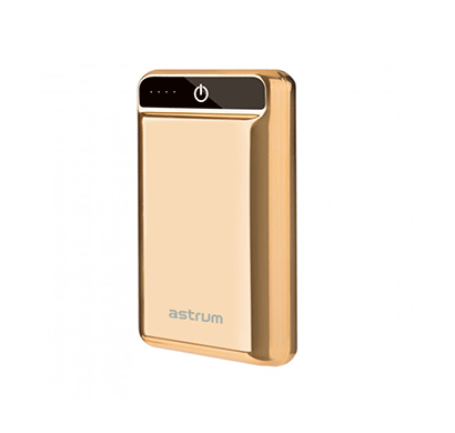 Astrum PB201 10000mAh Electroplated Power Bank Dual USB (Electro Gold)