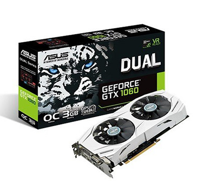 ASUS (DUAL-GTX1060-O3G) GeForce GTX 1060 3GB Dual-Fan OC Edition Graphics Card