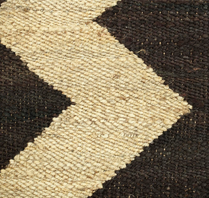 Asterlane Hemp Dhurrie carpet PDHM-13 Ebony