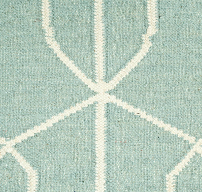 Asterlane Woolen Dhurrie carpet DW-111 Light Turquoise