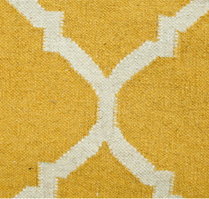 Asterlane Woolen Dhurrie carpet PDWL-123 Bright Yellow
