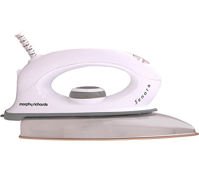 bajaj morphy richards- senora, 1000-watt dry iron satilon, white, 1 year warranty