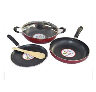 bajaj majesty duo cookware 3pcs set