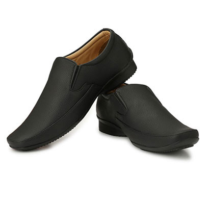 blanc puru-710800bm006/ slip on/ artificial leather/ size 6/ black/ formal shoes