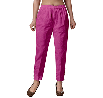 Brover Pretty Mantra Cotton Dobby Trouser For Girls And Women Magenta