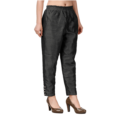 Brover New Trendy Cotton Slik Pant- Black