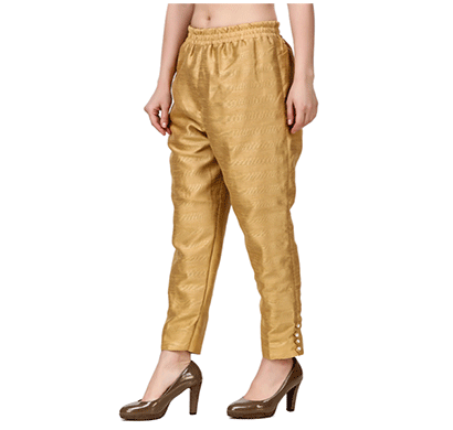 Brover New Trendy Cotton Slik Pant- Gold