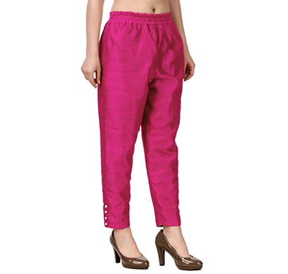 Brover New Trendy Cotton Slik Pant- Magenta
