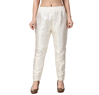 brover new trendy cotton slik pant- off white