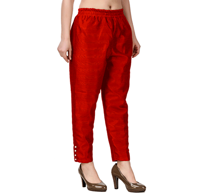 Brover New Trendy Cotton Slik Pant- Red