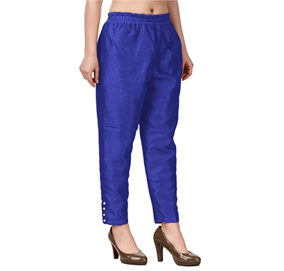 brover new trendy cotton slik pant- royal blue