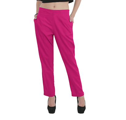 brover classy style power cotton linen blend trouser magenta