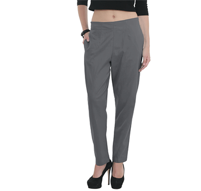 brover classy style power cotton linen blend trouser grey