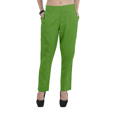 Brover Classy Style Power Cotton Linen Blend Green Trouser