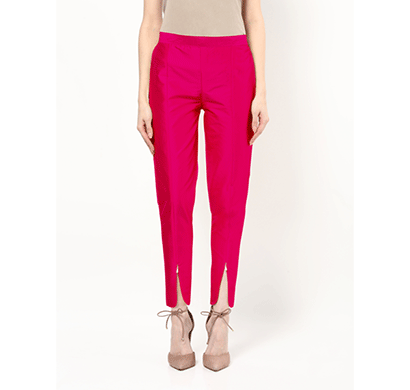 brover new style silk with cotton lining magenta tulip trousers for girls and women
