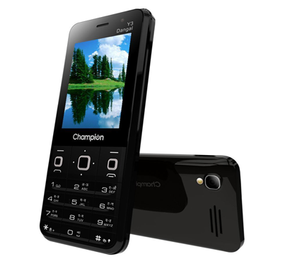 Champion Y3 Dangal Feature Phone , Black