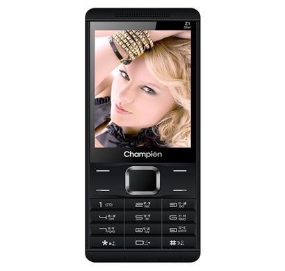 champion z1 star feature phone with wireless fm radio & auto call recorder - black