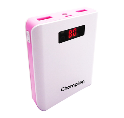 Champion Z-10 Digital Power Bank 10400mAh Capacity (BIS Certified) - Pink