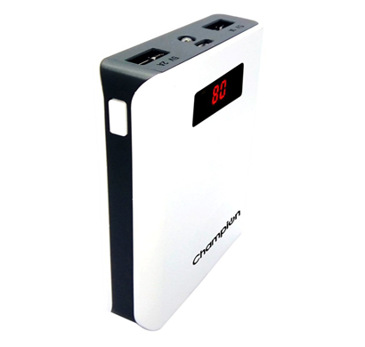 Champion Z-10 Digital Power Bank 10400mAh Capacity (BIS Certified) - White & Black