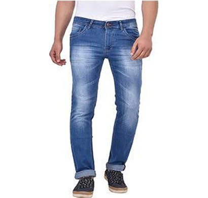 Copguy Narrow Fit Blue Denim Casual Jeans