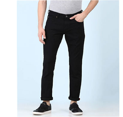 Copguy Narrow Fit Denim Casual Jeans Black
