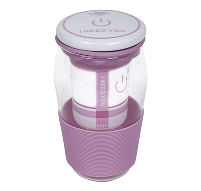 cosmosgalaxy green tea mug with strainer, ceramic lid and silicon sleeve, purple