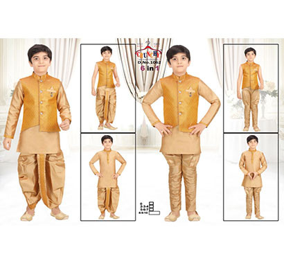 crunchy kids ethnic designer top bottom unique set for boys
