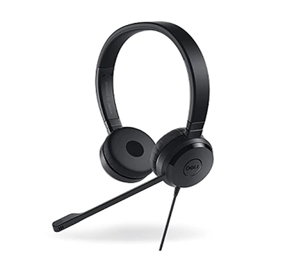 dell pro stereo headset - uc350 - skype for business/ black
