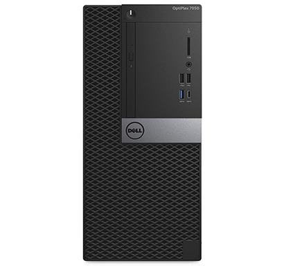 dell optiplex 7050 intel core-i5 (6th gen)/ 8gb ram/ 500gb hdd/ 2gb graphics/ dos/ 1 year warranty/ without monitor/ black