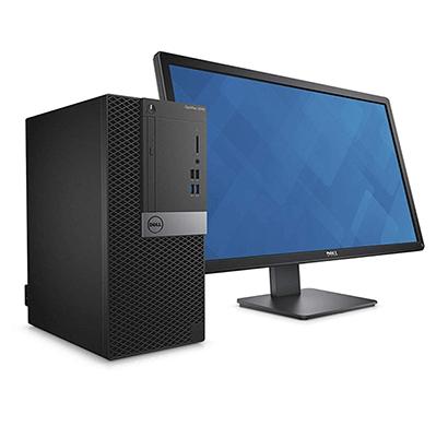 Dell Optiplex 3060MT-8th Gen/ Intel Corei3 8100/ 4GB DDR4 RAM/ 1TB Hard Drive/ 19.5 Inch Monitor/ DOS/ 3 Years Warranty/ Black
