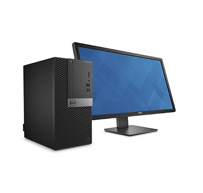 Dell Optiplex 3060MT Desktop Pc (Pentium Dual Core-G5400/ 8th Gen/ 4GB RAM/ 1TB HDD/ 18.5 Inch Monitor/ DOS/ USB Keyboard & Mouse/ 3 Years Warranty/ No DVD),Black