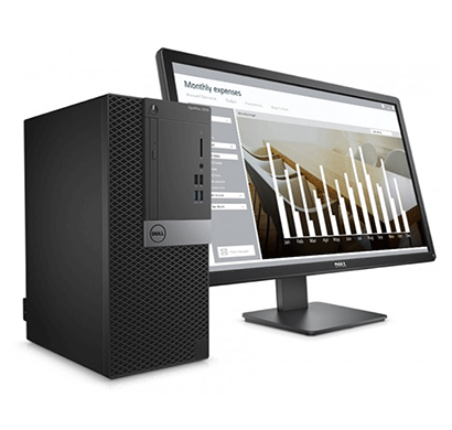dell optiplex 3050 mt desktop pc core i3 7100, 4gb ram, 1tb, no dvd, win10 pro, 19.5 inch, 3 years warranty black