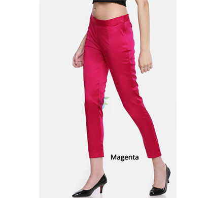 denim women pencil pant stretchable llycra magenta