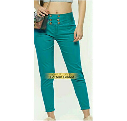 denim women saphire pant ethnic and western island blue