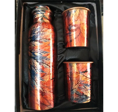 desiswags copper gifting sets ethically handmade copper bottle and gifting sets multi color