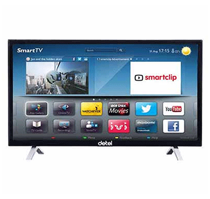 detel di3220ms smart led-32 inch hd, samsung a grade panel black