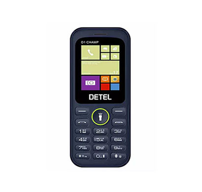 Detel D1 Champ 1.8 Inch LCD Display, Dual Sim (Blue)